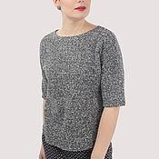 Одежда handmade. Livemaster - original item Knitted jumper grey cotton boucle. Handmade.