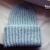 Аксессуары handmade. Livemaster - original item Knit Hat Forget-me-nots. Handmade.