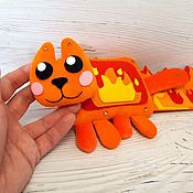 Куклы и игрушки handmade. Livemaster - original item Fire Cat mini, soft toy nyashny cat Nyan Cat nyankat. Handmade.