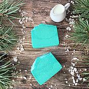 Косметика ручной работы handmade. Livemaster - original item Natural soap with mare`s milk Pine and salt. Handmade.