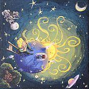"""Для дома и интерьера ручной работы. Ярмарка Мастеров - ручная работа Шкатулка для денег - купюрница """"«The Little Prince». Handmade."""
