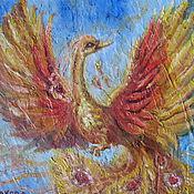 Картины и панно ручной работы. Ярмарка Мастеров - ручная работа Птица Феникс. Handmade.