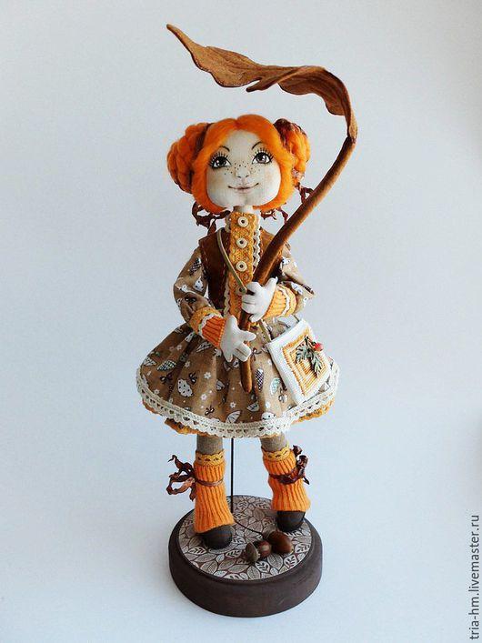 Куклы тыквоголовки ручной работы. Ярмарка Мастеров - ручная работа. Купить Интерьерная кукла Осень. Handmade. Оранжевый, кукла в подарок