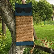 """Для домашних животных, ручной работы. Ярмарка Мастеров - ручная работа Когтеточка """"Кот в очках"""". Handmade."""