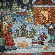 """Картины и панно ручной работы. Ярмарка Мастеров - ручная работа Панно """" Чудеса случаются! ,особенно в Рождество"""". Handmade."""