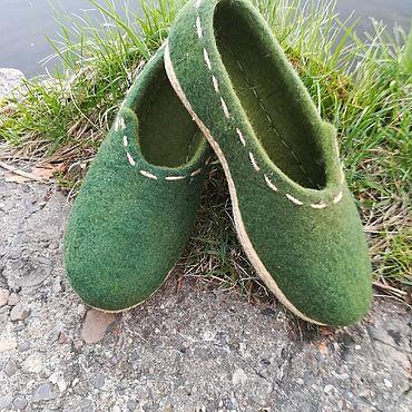 Обувь ручной работы. Ярмарка Мастеров - ручная работа Туфли войлочные женские ручной работы. Handmade.