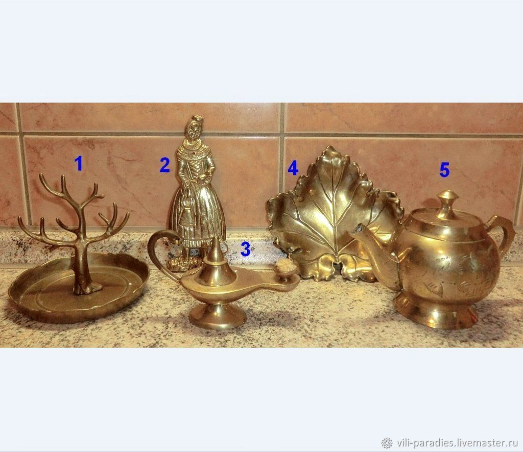 Предметы декора из латуни