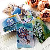 Открытки ручной работы. Ярмарка Мастеров - ручная работа Открытка почтовая для поскроссинга Дуновение ветра. Handmade.