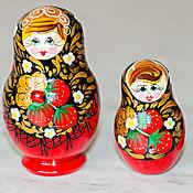 Русский стиль handmade. Livemaster - original item Matryoshka Khokhloma. Handmade.