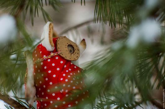 Мишки Тедди ручной работы. Ярмарка Мастеров - ручная работа. Купить снежнушка. Handmade. Ярко-красный, хлопок, шерсть