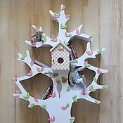Для дома и интерьера ручной работы. Ярмарка Мастеров - ручная работа Белое дерево-стеллаж для детской комнаты 4. Handmade.