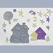 Applications handmade. Livemaster - original item Application Evening city. Embroidered FSL. Handmade.