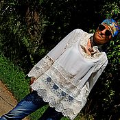 Одежда ручной работы. Ярмарка Мастеров - ручная работа Блузка-туника в стиле БОХО (№343). Handmade.