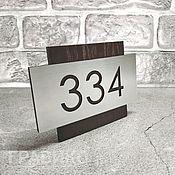 Двери ручной работы. Ярмарка Мастеров - ручная работа Номерок на дверь. Handmade.