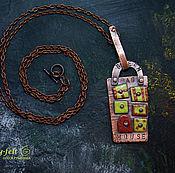 Украшения ручной работы. Ярмарка Мастеров - ручная работа BAG HOUSE, подвеска (медь, горячая эмаль). Handmade.