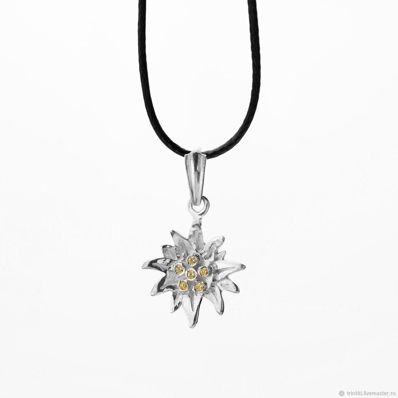 Edelweiss pendant, Pendants, Tver, Фото №1