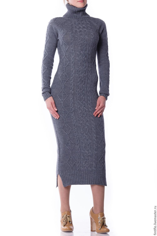 Платье футляр вязаное фото