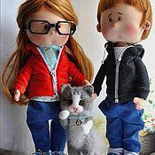 Портретная кукла ручной работы. Ярмарка Мастеров - ручная работа Кукла текстильная портретная по фотографии.. Handmade.
