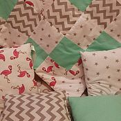 handmade. Livemaster - original item Bumpers in the crib quilt as a gift. Handmade.
