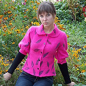 Одежда ручной работы. Ярмарка Мастеров - ручная работа Жакет валяный Розовая Мечта. Handmade.