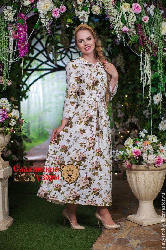 """Платья ручной работы. Ярмарка Мастеров - ручная работа. Купить Платье """"Яблоневый цвет"""". Handmade. Белый, с поясом, повседневное платье"""