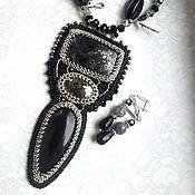 Украшения ручной работы. Ярмарка Мастеров - ручная работа Кулон Ярко-черный. Handmade.