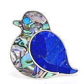Украшения handmade. Livemaster - original item Brooch Blue bird. Lapis lazuli, mother of pearl. Exclusive Brooch in gift. Handmade.