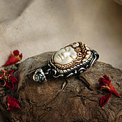Украшения handmade. Livemaster - original item Lady autumn. Bone carving. Handmade.