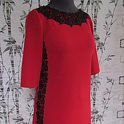 Одежда ручной работы. Ярмарка Мастеров - ручная работа Красное платье. Handmade.