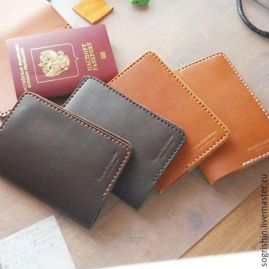 Обложки ручной работы. Ярмарка Мастеров - ручная работа. Купить Обложка для паспорта. Handmade. Толстая кожа, кожа крс, кожа