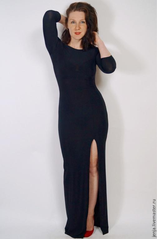 Платья ручной работы. Ярмарка Мастеров - ручная работа. Купить Angelina Jolie maxi dress in black by Candy Cottons. Handmade.