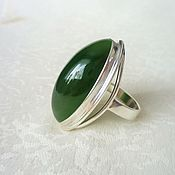 Украшения handmade. Livemaster - original item Ring of jade. Handmade.