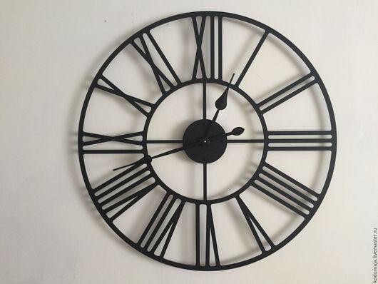 """Часы для дома ручной работы. Ярмарка Мастеров - ручная работа. Купить Часы 80см с увеличенными стрелками """"Rooma"""". Handmade. Черный"""