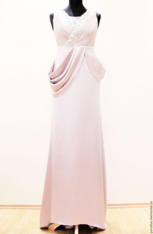 Платья ручной работы. Ярмарка Мастеров - ручная работа. Купить АЭЛИТА атласное платье со шлейфом по выкройке Thierry Mugler. Handmade.