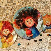 "Набор декоративных тарелок ""Солнечные ангелы"""