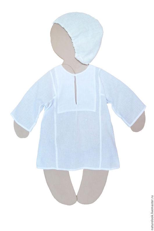 Крестильные принадлежности ручной работы. Ярмарка Мастеров - ручная работа. Купить Рубашка крестильная традиционная на мальчика. Handmade. Белый, Крестины