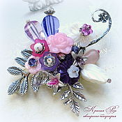 Украшения handmade. Livemaster - original item Brooch in purple shades. Handmade.