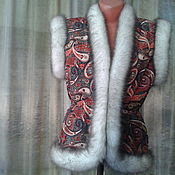 Одежда handmade. Livemaster - original item vest in the Russian style -FASHIONISTA. Handmade.