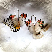 Украшения handmade. Livemaster - original item Silk Butterfly Earrings. Handmade.