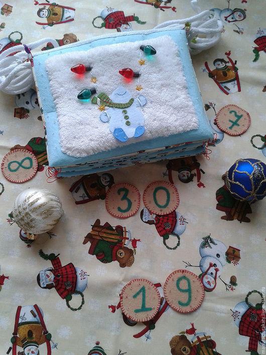 Развивающие игрушки ручной работы. Ярмарка Мастеров - ручная работа. Купить Зимний календарь. Handmade. Развивающие игрушки, мягкая книжка