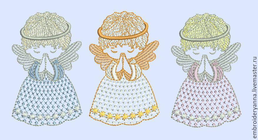 Дизайн ангелов для машинной вышивки