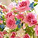 Букеты ручной работы. В НАЛИЧИИ - Букет с кустовыми розами, колокольчиками и ягодой. Екатерина Звержанская. Ярмарка Мастеров. Композиция в подарок