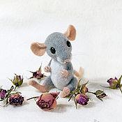 Куклы и игрушки ручной работы. Ярмарка Мастеров - ручная работа Мышонок, валяная игрушка. Handmade.