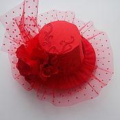Аксессуары ручной работы. Ярмарка Мастеров - ручная работа Шляпка красная. Handmade.