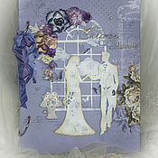 """Свадебный салон ручной работы. Ярмарка Мастеров - ручная работа Свадебная книга пожеланий """"Счастье быть с тобой"""". Handmade."""