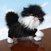 Куклы и игрушки handmade. Livemaster - original item Black and White Kitten Toddler Realistic Toy. Handmade.