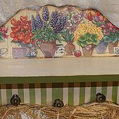 """Для дома и интерьера ручной работы. Ярмарка Мастеров - ручная работа Кухонная полка""""Цветы в горшках"""". Handmade."""
