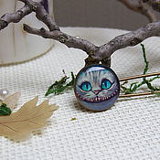 Brooches handmade. Livemaster - original item Brooch Pin Cheshire cat Alice in Wonderland. Handmade.