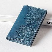 Сумки и аксессуары handmade. Livemaster - original item Blue Leather Business Card Holder - Credit Card Wallet. Handmade.