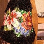 Сумки и аксессуары ручной работы. Ярмарка Мастеров - ручная работа Сумка вязаная с бисерной вышивкой. Handmade.